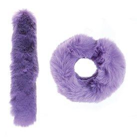 Watchitude Watchitude: Grape Fuzz'd Slap Bracelet