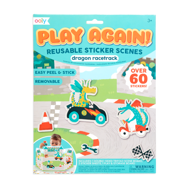 Ooly Ooly: Play Again! Reusable Sticker Scenes: Dragon Racetrack