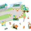 Ooly: Play Again! Reusable Sticker Scenes: Dragon Racetrack
