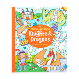 International Arrivals Ooly: Color-in Book Knights & Dragons