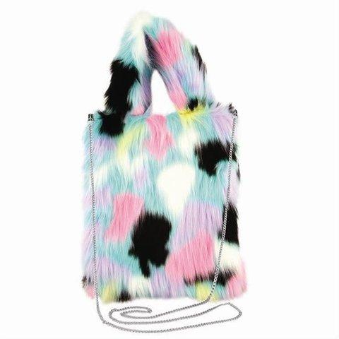 Fashion Angels: Faux Fur Multi-Dalmatian Bag