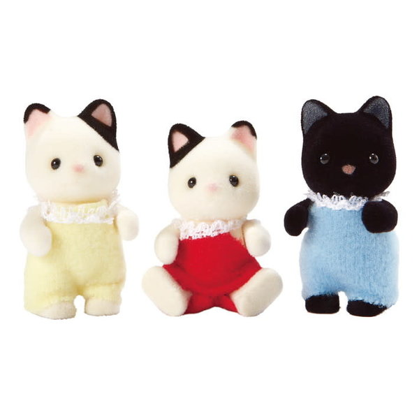Epoch Calico Critters: Tuxedo Cat Triplets