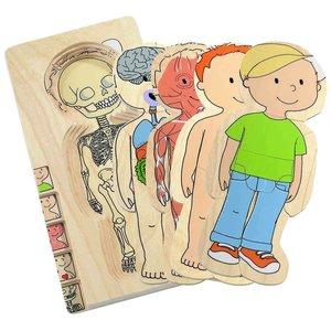 Hape Hape: Layer Puzzle-Your Body Boy