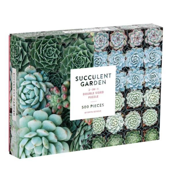 Chronicle Chronicle: 2 Sided Succulent Garden 500pc Puzzle