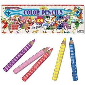 eeBoo eeBoo: 24 striped Biggies Colored Pencils