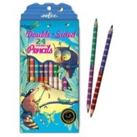 eeBoo eeBoo: Raccoon and Owl 12 Double Sided Pencils