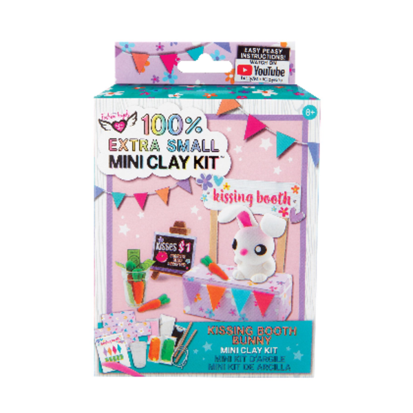 Fashion Angels Fashion Angels: Extra Small Kissing Booth Bunny Mini Clay Kit