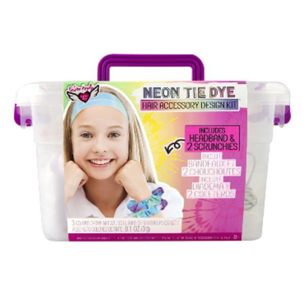 Fashion Angels Fashion Angels: Neon Tie Dye Hair Accessory Design Keeper Crate