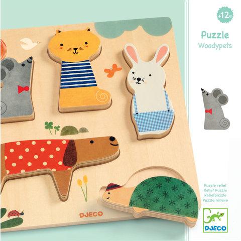 Djeco: Wooden Puzzle Woodypets