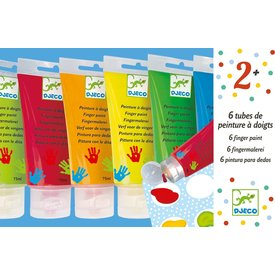 Djeco Djeco: Art Supplies 6 Finger Paint Tubes- Classic
