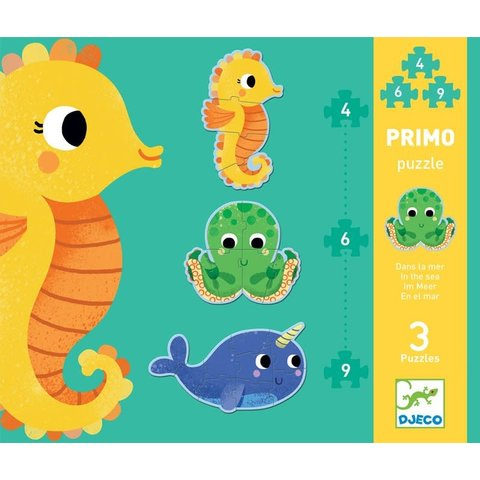 Djeco: In the Sea Progressive Puzzle 4/6/9pcs