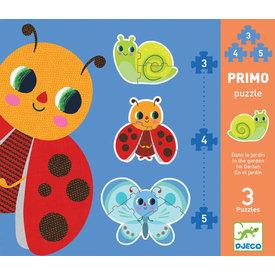 Djeco Djeco: In the Garden Progressive Puzzle 3/4/5pcs