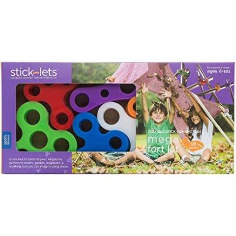 Sticklets: 18-Piece Mega Fort Set