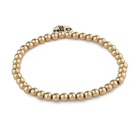 Charm It! Charm It: 4mm Gold Bead Bracelet