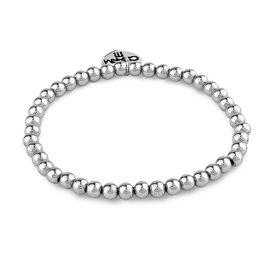 Charm It! Charm It: 4mm Silver Bead Bracelet
