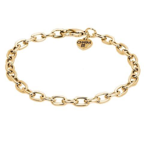Charm It: Gold Chain Bracelet
