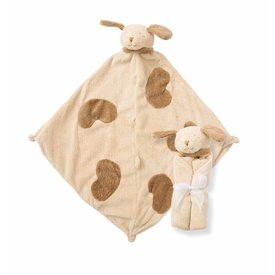Angel Dear Angel Dear: Cuddle Twins Puppy Blankie Brown
