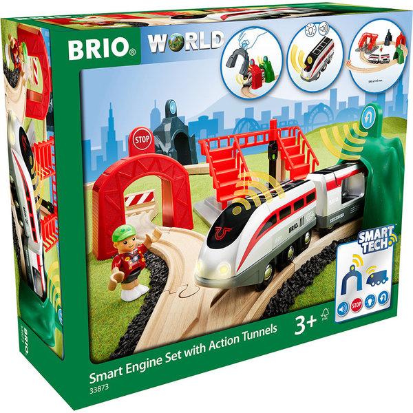 Brio Brio: Smart Engine Set w/ Action Tunnels