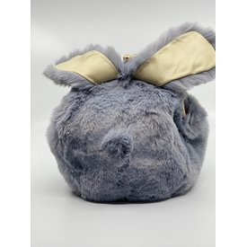 Doe A Dear Doe A Dear:Furry Rabbit Ear Plush Purse Grey