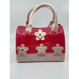 Doe A Dear Doe A Dear:Flowers Barrel Jelly Hand Bag Punch/Ivory