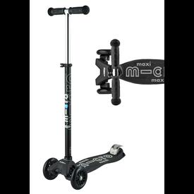 Micro Micro: Maxi Deluxe Black/Grey Scooter