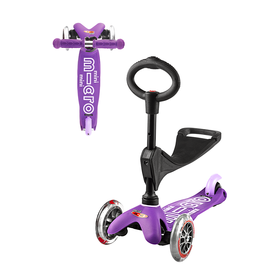 Micro Micro: 3 in 1 Deluxe Purple Scooter