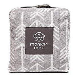 Monkey Mat Monkey Mat: Plush Mat - Gray Arrow Print