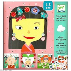 Djeco DJECO: Create with Stickers Make-a-Face kit