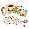 DJECO: Create with Stickers Make-a-Face kit