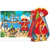 Djceo: Silhouette Pirate & Treasure 36 PC Puzzle