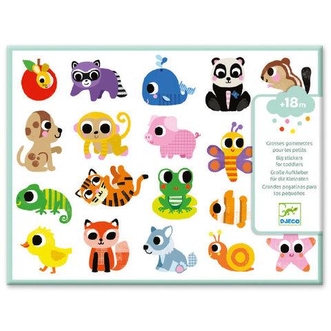 DJECO: Baby Animals Big Stickers