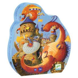 Djeco Djceo: Silhouette Vaillant & Dragon 36 PC Puzzle