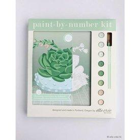 Elle Crée Elle Cree: Paint-by-Numbers - Blooming Succulent