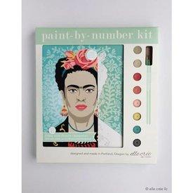 Elle Crée Elle Crée: Paint-by-Number kit - Frida with Flowers
