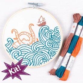 "PopLush Embroidery PopLush Emroidery: The Kraken! 5"" Emroidery Kit"