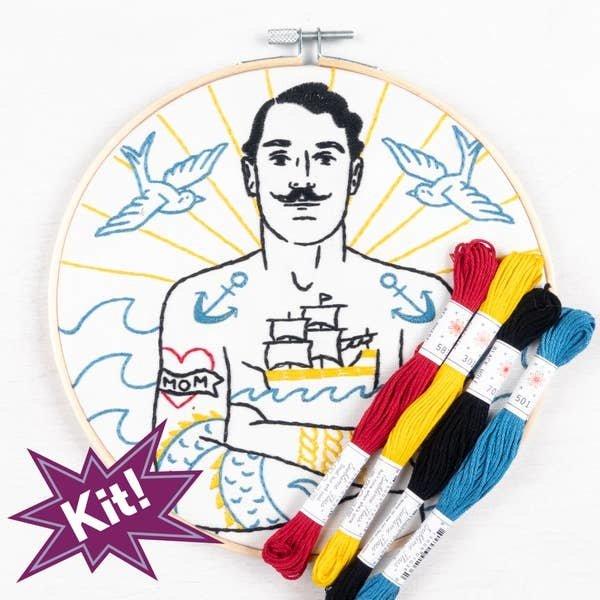 "PopLush Embroidery PopLush: Salty Sailor 8"" Emroidery Kit"