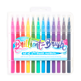 Ooly Ooly: Brilliant Brush Markers - Set of 24