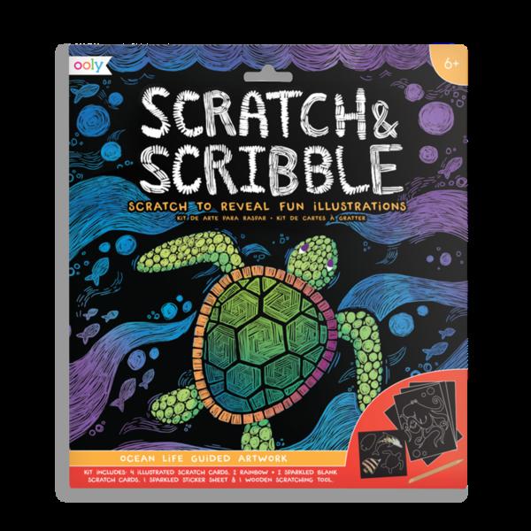Ooly Ooly: Scratch & Scribble - Ocean Life