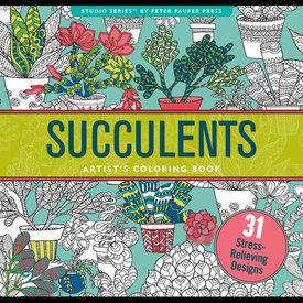 Peter Pauper Peter Pauper: Coloring Book - Succulents