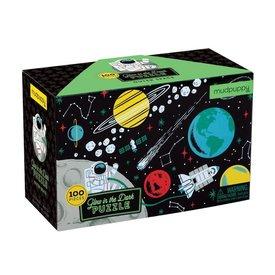 Mudpuppy Mudpuppy: Glow Puzzle-Outer Space