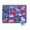 Crocodile Creek: 16pc Let's Play Wood Puzzle Unicorn Garden