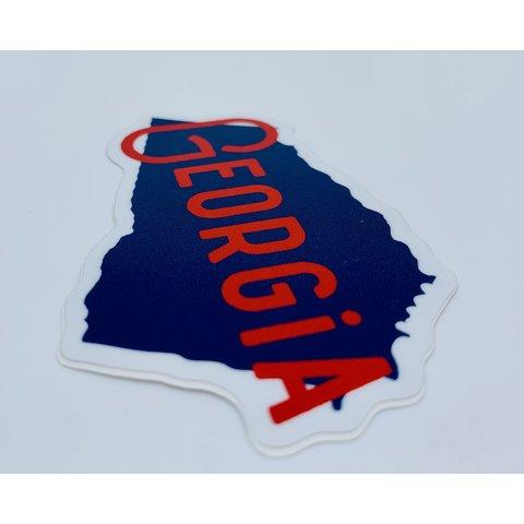 Stickers Northwest: Georgia Red & Navy Sticker