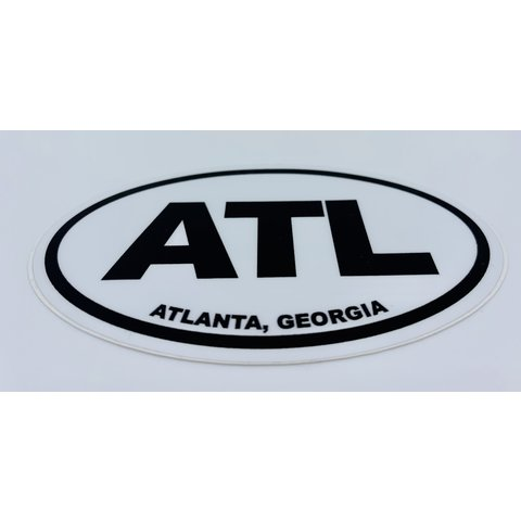 Stickers Northwest: Atlanta Georgia Oval Sticker