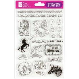 Peter Pauper Peter Pauper: Clear Stamp Set - Unicorns