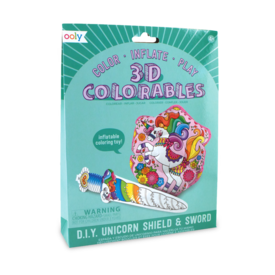 Ooly Ooly: 3D Colorables - Unicorn Shield & Sword
