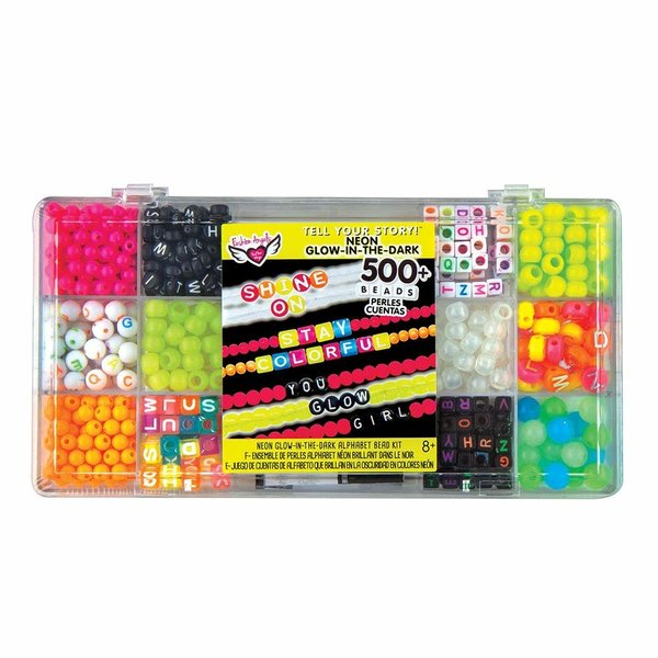 Fashion Angels Fashion Angels: Tell Your Story Alphabet Bead Case Small Neon Glow