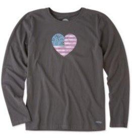 Life is Good American Love L/S Tee