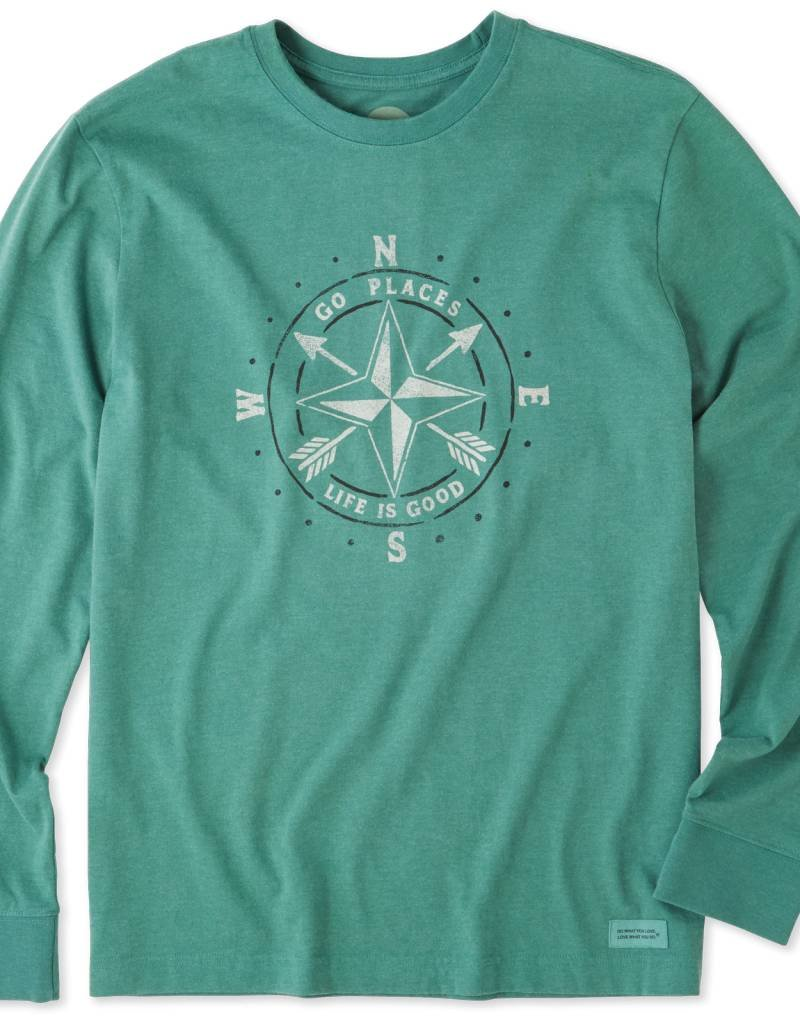Life is Good Go Places Compass L/S Tee