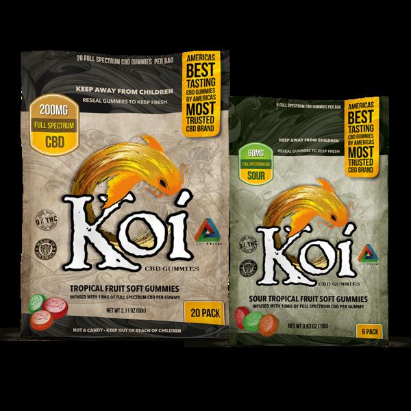 Koi CBD Koi CBD Tropical Gummies (10MG per Gummy) 20-Count / Bag single