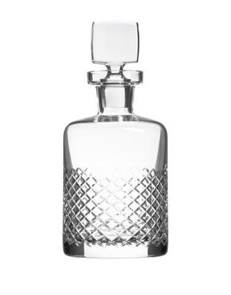 Diamond cut whiskey decanter